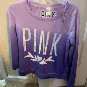 Victoria's Secret PINK purple ombre shirt top nwt